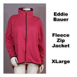 Eddie Bauer Full Front Zip Fleece Jacket